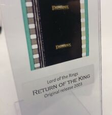 Authentic Lord Of The Rings RETURN OF THE KING Movie Film Strip 5 Cells TITLE
