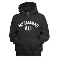 Muhammad Ali Name Charcoal Heather Adult Pullover Hoodie