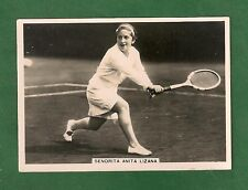 Senorita ANITA LIZANA de ELLIS  Chilean  Former WORLD No 1 1937 original card