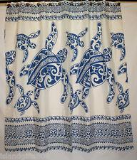 Hawaiian 100% Polyester Fabric Shower Curtain, Blue Sea Turtle Shower Curtain