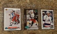 (3) Keith Tkachuk 1991-92 Upper Deck Parkhurst RC 1992-93 UD Rookie card lot USA