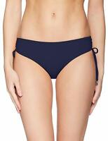 Anne Cole Women Swimwear Blue Large L Low-Rise Adjustable Bikini Bottom $44- 879