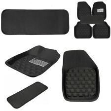 5Pcs Left Hand Drive Car Floor Mats Front & Rear Carpet Auto Black Skidproof Mat
