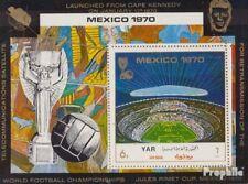 North Yemen block131 (complete issue) used 1970 Football-WM `70