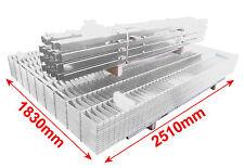 50m Zaunanlage Zink 1830mm Doppelstabmattenzaun Industriezaun Gittermatten $P