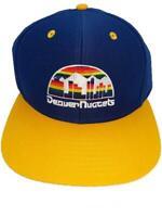 New Denver Nuggets Mens Flatbrim Snapback Throwback HWC Adidas Cap Hat