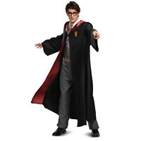 Mens Deluxe Harry Potter Gryffindor Halloween Full Uniform Costume Hooded Robe