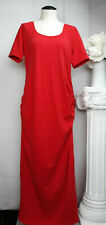 OH! MAMMA Red Maternity Rouched Side Short Sleeve Maxi Dress Size Medium