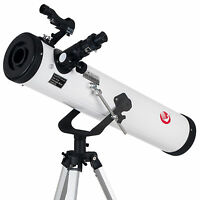 700x76mm Reflector Telescope beginner with Tripod and Eyepieces dual purpose