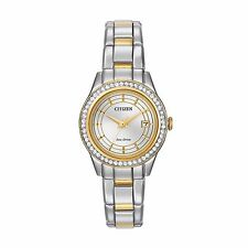 Citizen Eco-Drive Silhouette Women's FE1124-58A Swarovski Crystals 28mm Watch