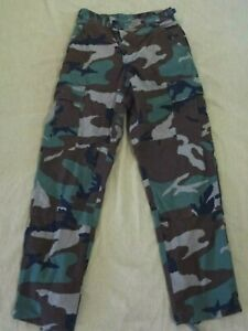 U.S. Military Issue Woodland BDU Camo Hot Weather Pants Ripstop 28x30 S Short