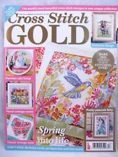 UK Cross Stitch Gold Magazine April 2015 Issue 47 Cats Heart Spring Patterns