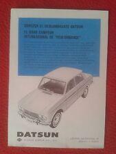 RECORTE DE PRENSA REVISTA O PERIÓDICO PUBLICIDAD COCHE DATSUN NISSAN MOTOR CAR