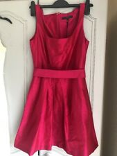 Ladies Cerise Pink Pure Silk Coast Size 8 Cocktail Dress New With Tags Cost £95