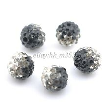 10Pcs Czech Crystal Rhinestones Pave Clay Round Disco Ball Spacer Beads 10MM