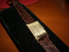 14K Solid Gold Omega Rectangular Watch Fancy Lugs 40's
