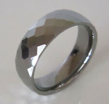 SUPERNOVA Grey Tungsten Honeycombe Faceted Scarf Ring Indie Mod Scooter 60s