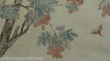 Ju Lian 1828-1904 Original Painting Insect & Plums Important Chinese Artist