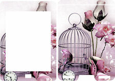 2012 Kindle Touch Ebook Reader Skin Cover Vinyl Sticker Bird Cage Flowers KT7