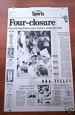 NEWSPAPER PRINTING PLATE CHICAGO BULLS 1996 JORDAN RARE