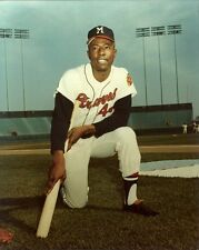 HENRY AARON 8x10 Baseball Photo @ County Stadium MILWAUKEE BRAVES Hammerin' Hank