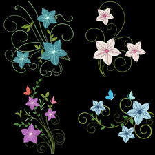 FANCY FLOWERS - 36 MACHINE EMBROIDERY DESIGNS (AZEB)