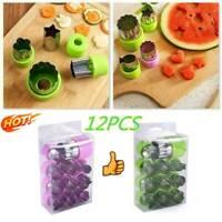 12X Stainless Steel Food Mold Set Fruit Vegetable Mini Tool Shape Cookie G0Z5