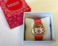 """MIXIT Red """"The Elf made me do it"""" Holiday Christmas Womens Watch JCpennys NEW!"""