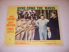 HERE COME THE WAVES 1944 BING CROSBY AUTHENTIC ORIGINAL 11x14 LOBBY POSTER (486)