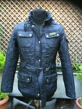 Barbour International Ladies black quilted belted Casual jacket 12