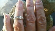 Vintage /sterling silver /size 5.75 rope looking band/ handmade