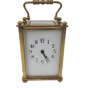 Vintage Small French Carriage Clock Not Working AS IS
