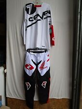 Motocross combo One Industries ATOM HONDA pants 34,SEVEN jersey LARGE red/white