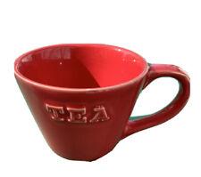 "Primagera Portugal Red White Raised ""Tea � Mug Cup Coffee Tea Euc"