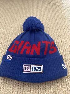 NEW ERA NFL New York Giants 2019 Sideline Road Sport Knit. Bobble Hat