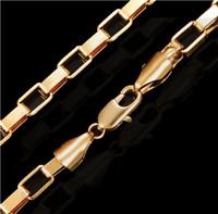 18k Goldkette Veneziaerkette vergoldet Geschenk Damen Herren Halskette Schmuck
