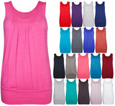 Scoop Neck Sleeveless Tops & Shirts for Women with Ruched