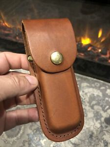 LEATHER SHEATH SCHRADE BUCK CASE FOLDING KNIFE UNITED STEELWORKERS OF AMERICA