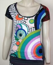 """BN Desigual collection Elegant & Stylish top """"Irma"""" retro motif """"Medium"""""""