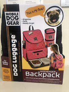 Mobile Dog Gear Unisex Weekender Backpack One Size Black