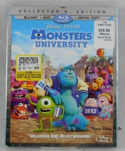 Disney Monsters University Blu-Ray and DVD 3 Disc Set Digital Copy New SEALED