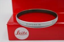 E.Leitz N.Y. Leica E58 58mm Noctilux SL Skylight Lens Filter - Chrome - Germany