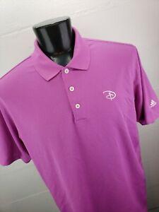 Adidas ClimaLite Disney Golf Polo Mens XL Lilac Amethyst Geometric Knit