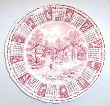 "Vintage 1974 Zodiac Calendar Plate, 9"", Alfred Meakin, Staffordshire, England"