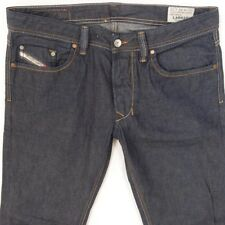 Da Uomo Diesel Larkee 0802a DRITTO REGULAR FIT Blue Jeans w32 l34