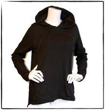 NWT Groceries Apparel black organic GMO-free cotton hooded shirt hoodie top sz M
