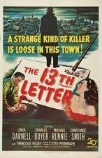 The 13th Letter - 1951 - Linda Darnell Charles Boyer Preminger Vintage Noir DVD