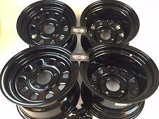 """4 Honda ATV UTV Wheels Set 12"""" ITP Delta Steel Black 4/110 5+2 2+5 Honda"""