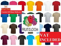 Fruit of the Loom 100% Cotton Childrens BOYS & GIRLS PLAIN T-SHIRT AGE 1-15