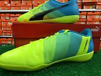 Puma EvoPOWER 4.3 IT Indoor Soccer Shoes Yellow / Blue Size 10.5 New In Box